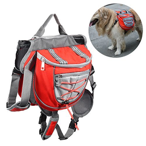 Petacc Lightweight Dog Backpack Portable Pet Saddle Bag Dog Knapsack, Suitable for Walking, Hiking and Other Outdoor Activities by Petacc