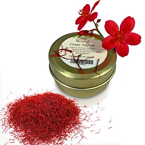 Coupe Spanish Saffron (2 grams) - Category 1 Pure Azafran Filaments (Unmatched Aroma for your Paella and Great Gift for Anyone who Enjoys Cooking and Entertaining) ()