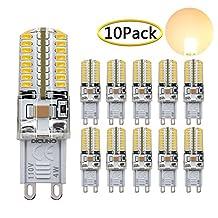 DiCUNO G9 LED Bulb 30 Watt-40 Watt Equivalent Warm White 4 Watt 3000K Non-Dimmable Bi-pin Base LED SMD AC 110V Corn Bulb, 10-Pack