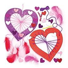 Baker Ross Make A Heart Dream Catcher-Juego niños, diseño de atrapasueños para Hacer y Personalizar Actividades de Arte y Manualidades (4 Unidades), Multicolor (AR996)
