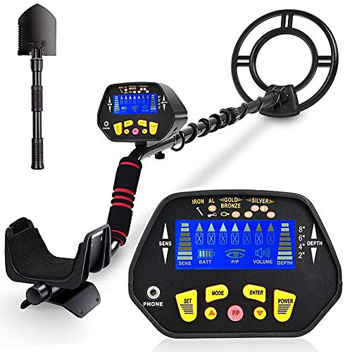 RM RICOMAX Metal Detector for Adults -【High-Accuracy】Metal Detector Waterproof with LCD Display 【P/P Function & Discrimination Mode & Distinctive Audio Prompt】10