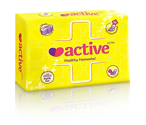 Active Ultra thin XL Healthy Hamesha Sanitary Pads Combo of 6 packets (36 pads)