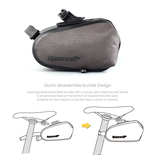 Waterproof Bike Saddle Bag seat pack mountain bicycle tail bag for cycling with rear light hook