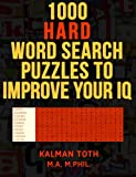 1000 Hard Word Search Puzzles to Improve Your IQ
