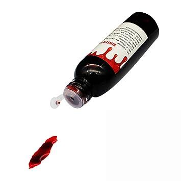Aesy Fialette di Sangue Finto Liquido in Bottiglia per Trucco Horror Zombie  Dracula Vampiro 35ML Per 7d986704ad0a