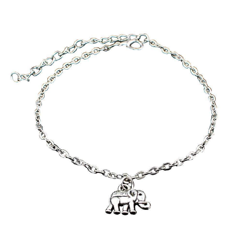 Oldlila Elephant Shape Pendants Anklets Small Beaded Bracelets Ladies Bracelets Foot Chain Foot Jewelry for Girl Wife Girlfriend