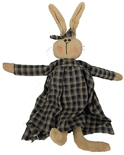 Craft Outlet Periwinkle Bunny Rabbit Figurine, 13-Inch (Bunny Primitive)