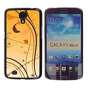 TECHCASE**Cubierta de la caja de protección la piel dura para el ** Samsung Galaxy Mega 6.3 I9200 SGH-i527 ** Wallpaper Nature Leaves Autumn Yellow