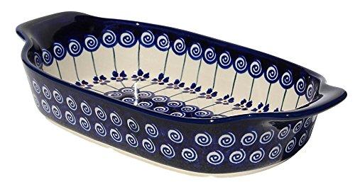 Polish Pottery Rectangular Serving Dish From Zaklady Ceramiczne Boleslawiec #1281-1085a, Length: 10