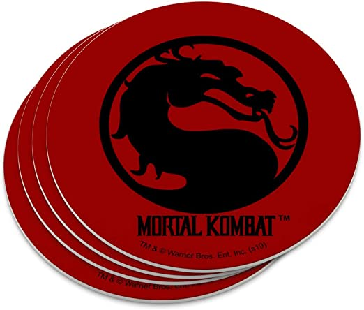 Amazon.com | Mortal Kombat Symbol Novelty Coaster Set: Coasters