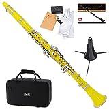 Mendini MCT-YL+SD+PB Yellow ABS B Flat Clarinet