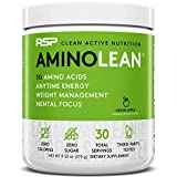 RSP AminoLean - All-in-One Pre Workout, Amino Energy, Weight Management Supplement with Amino Acids, Complete Preworkout Energy for Men & Women, Green Apple, 30 (Packaging May Vary)