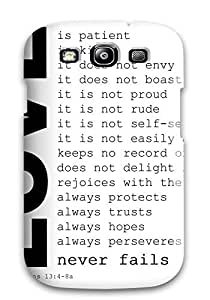 ElsieJM Galaxy S3 Well-designed Hard Case Cover Short Cute Quote Protector