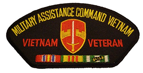 MILITARY ASSISTANCE COMMAND VIETNAM VIETNAM VETERAN with CREST and SERVICE RIBBONS PATCH - Color - Veteran Owned Business
