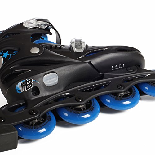 High Bounce Adjustable Inline Skate (Blue, Large (6-9) ABEC 7) by High Bounce (Image #1)