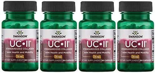 Swanson Uc-Ii Standardized Collagen 10 mg 60 Caps 4 Pack