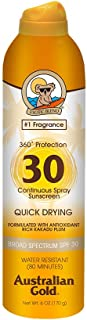 product image for Australian Gold Continuous Spray Sunscreen SPF 30, 6 Ounce | Dries Fast | Broad Spectrum | Water Resistant