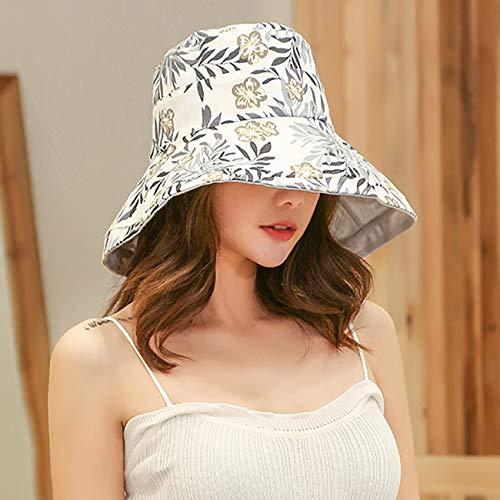 FaroDor Women Print Floral Reversible Bucket Hat UV Sun Protection Wide Brim Summer Beach Cap