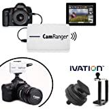 CamRanger Wi-Fi Dongle Wireless Camera Remote Controller For Canon & Nikon DSLRs From iOS, Android, Mac & PC or Windows Computer, iPad, iPhone 5, 5s, 5c, 6, 6s, 6 Plus, iPod Touch and a FREE Hot Shoe Mount With Ivation Tripod Adapter