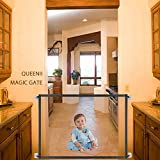 Queenii Magic Gate for Dogs Pet Safety Gate, Mesh