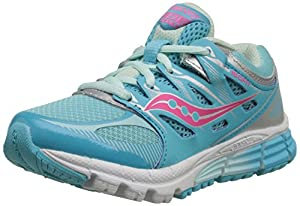 Saucony Zealot Sneaker (Little Kid/Big Kid), Turquoise/Silver, 12.5 M US Little Kid