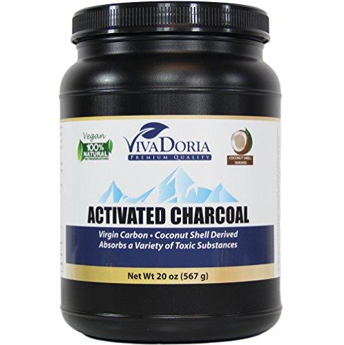 Viva Doria Virgin Coconut Shell Activated Charcoal Powder - Food Grade, 1.25 lb (20 oz)