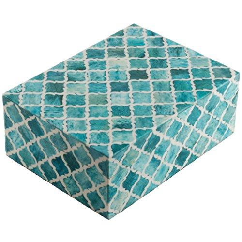 Eccolo Naturals Decorative Box, Medium, Moorish Turquoise