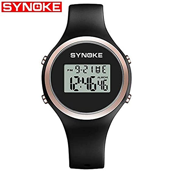 sportuhr synoke nuevos niños Chica Moda Reloj electronico Reloj Silicona Banda Pop: Amazon.es: Relojes
