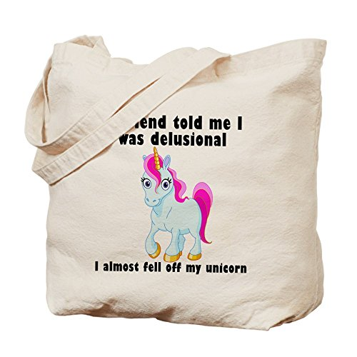 CafePress Unicorn Natural Canvas Shopping