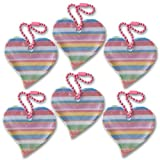 funflector Safety Reflector – Heart – Rainbow – 6-pack Review