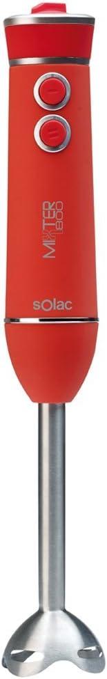 1 Liter Negro Acero Inoxidable 0 Decibelios 800 W Solac BA5602 Batidora de Vaso
