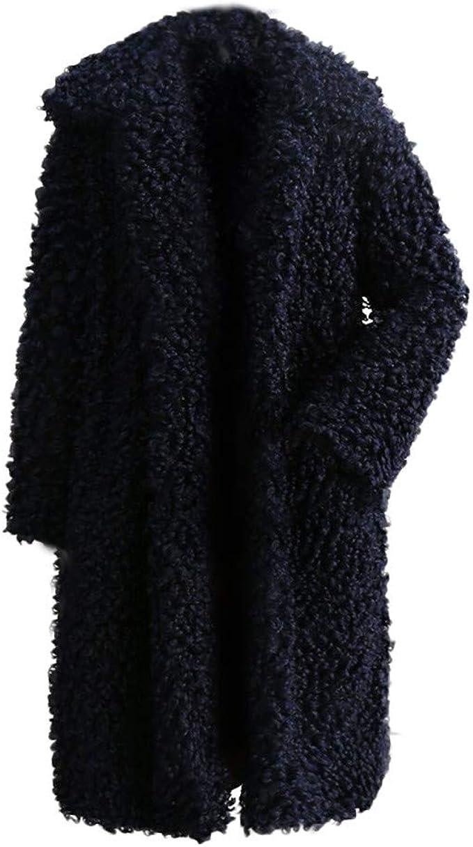 YWLINK Damen Winter Warmer Dicker Mantel Revers Einfarbig