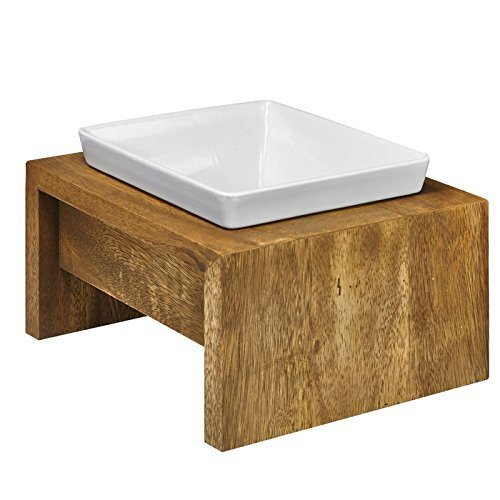 Bowsers Artisan Diner - Single Dog Feeder, Bamboo - Large - 7x7x4 Inch