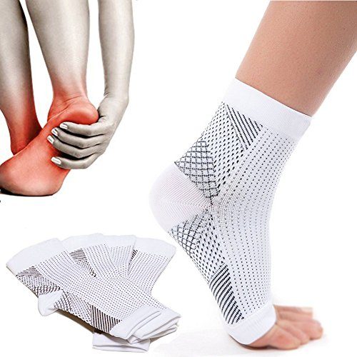 Plantar Fasciitis Compression Socks -Increase Blood Circulation, Relieve Arch Pain, Reduce Foot Swelling(1 - Chart Shape Head