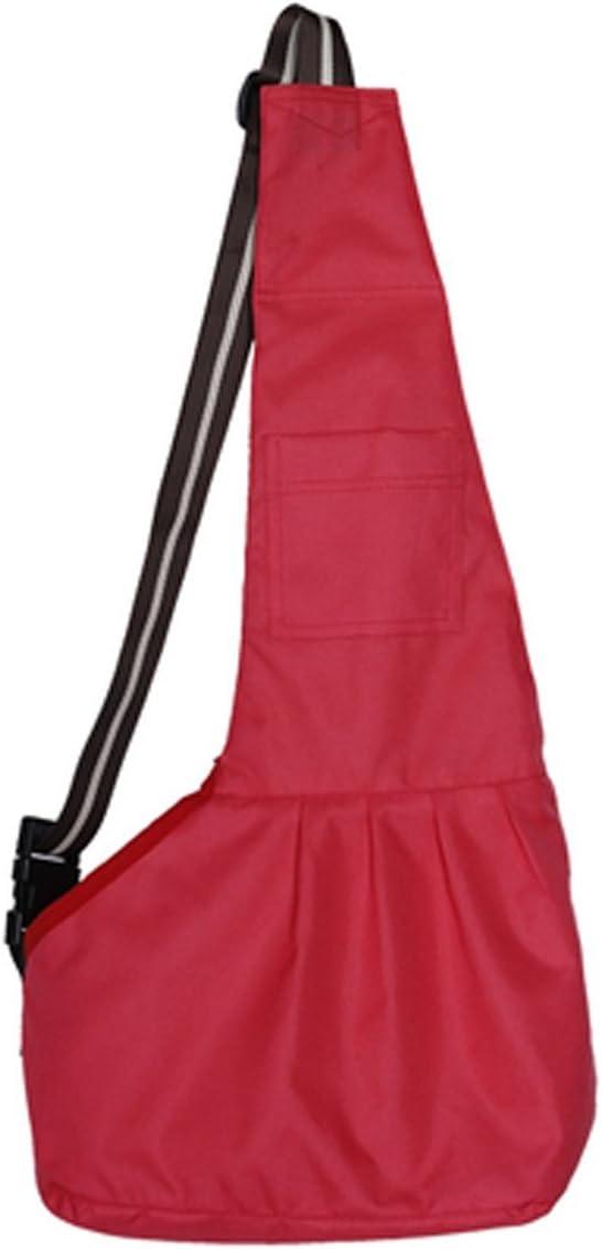 Prettysell Pet Dog Puppy Cat Carrier Bag Oxford Cloth Sling Single Shoulder Bag-Large,Red