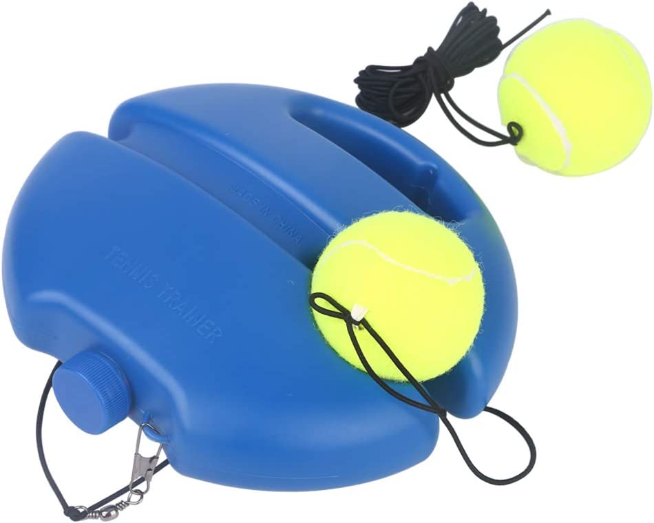 Heynoko Tennis Trainer Rebound Ball, Self Practice Tennis Training Tool Fill and Drill Exercise Ball Equipment Kit with 2 Balls, 1 Trainer Base