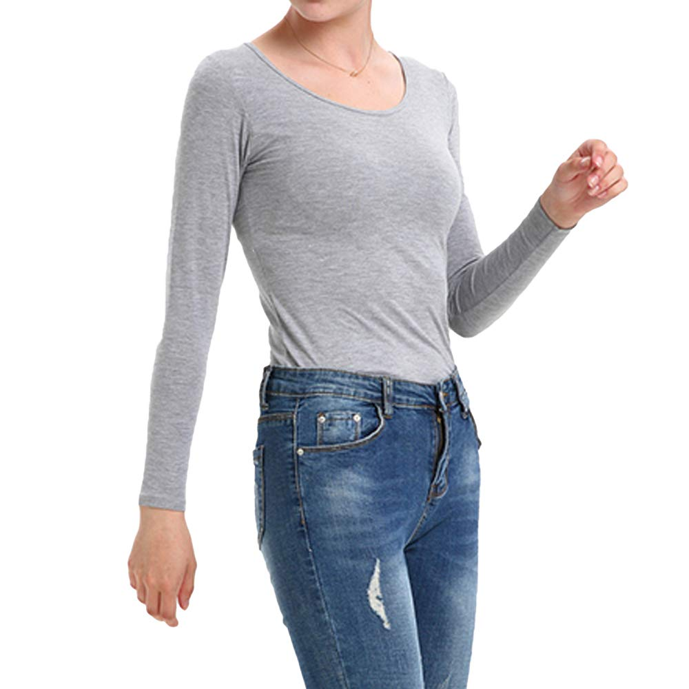 Womens Lightweight Thermal Underwear Baselayer Tops Slim Fit