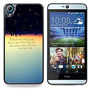 Planetar® Cuore vuole quello che vuole Quota Amore Logic HTC Desire 826 Fundas Cover Cubre Hard Case Cover
