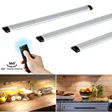 Dimmable Under Cabinet Lights Kitchen Lighting with Controller LED Closet Lighting 12W, 900LM, 3000K Warm White Under Counter Lighting for Closet/Wardrobe/Drawer/Cupboard