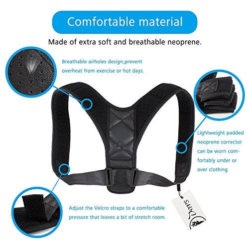 Adjustable Posture Corrector For Men & Women Clavicle Support, Improve Bad Posture, Shoulder Alignment, Muscle Memory, Upper Back and Neck Pain Relief by Tech-Prime (Image #4)