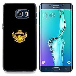 "Qstar Arte & diseño plástico duro Fundas Cover Cubre Hard Case Cover para Samsung Galaxy S6 Edge Plus / S6 Edge+ G928 (Chairborne Squad"")"