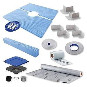 """USG Durock 48"""" x 48"""" Center Drain Shower System- Shower Kit by USG"""