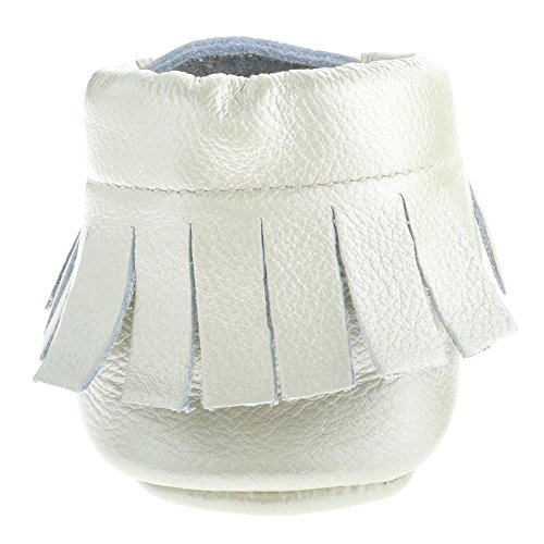 Sayoyo Premium Tassel Baby Mokassins Leather Soft Krippe Schuhe Perlwei?