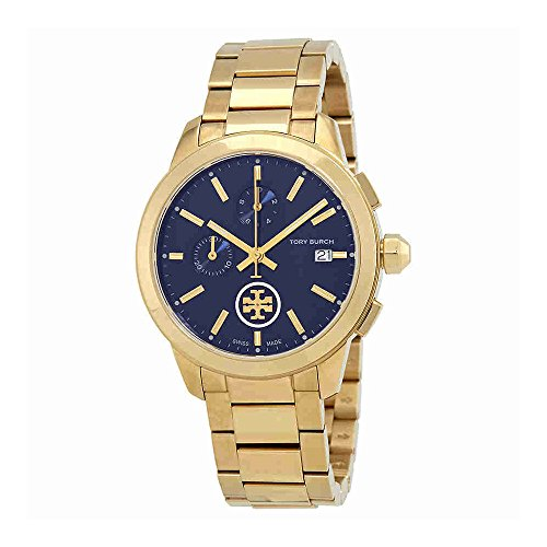 Tory Burch Collins Chronograph Blue Dial Ladies Watch TB1251
