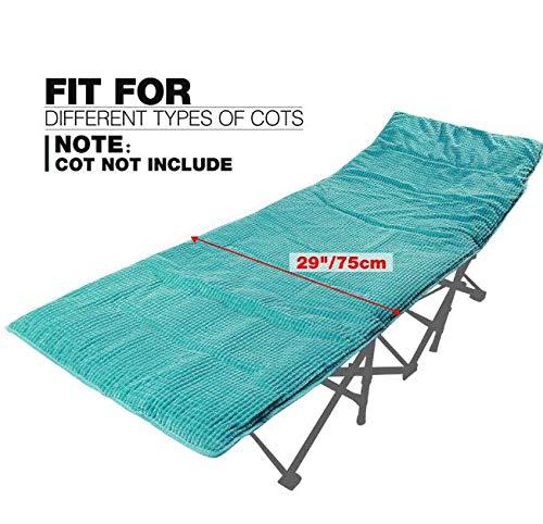 Folding Mat Folding Camping Cot Mattress Soft Cotton Thin Sleeping Cot Pad Mat (Mattress-Turquoise)