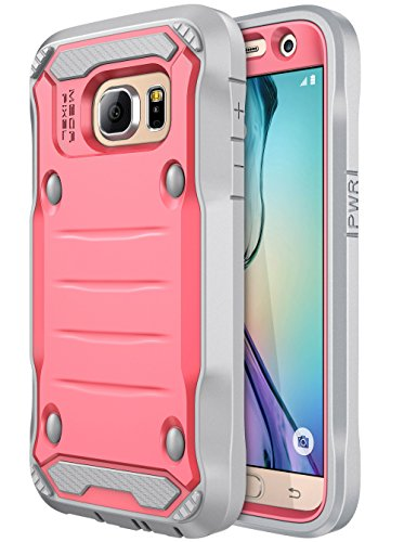 Galaxy S7 Case, E LV Samsung Galaxy S7 Hybrid Armor Protection Defender Case Cover with Built-in Screen Protector for Samsung Galaxy S7 - [RED Melon/Grey]