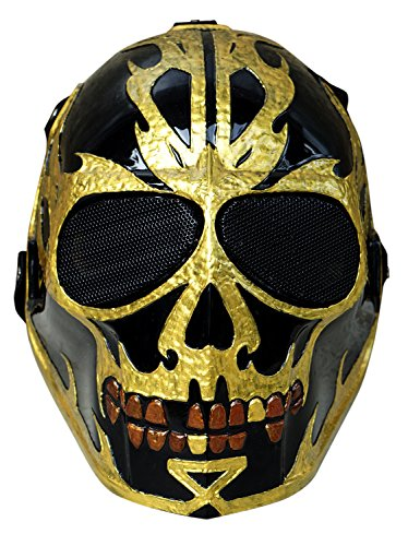 [Invader King Jack Sparrow Airsoft Mask Army of Two Protective Gear Outdoor Sport Fancy Party Ghost Masks Bb] (Movie Character Costume Ideas Homemade)