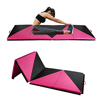ZENOVA Gymnastics Tumbling Mat 4x8x2 /4x10x2 Folding Gym Practice Panel Thick Exercise Mats with Handle Gymnastic Floor Mats