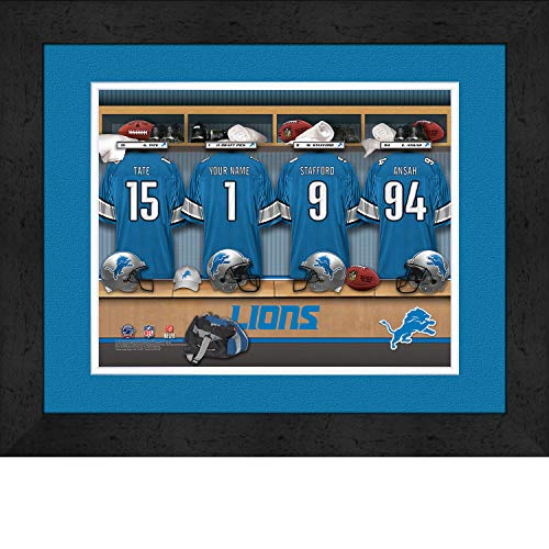 Prints Charming Photo File Locker Room Detroit Lions Framed Posters 16x12 Inches