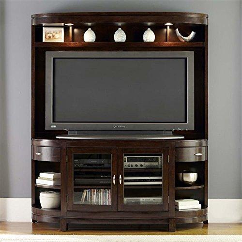 - Liberty Furniture Avalon Entertainment Center in Dark Truffle